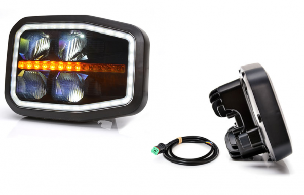 Scheinwerfer, Hauptscheinwerfer LED 6-Funktionen-Rechts