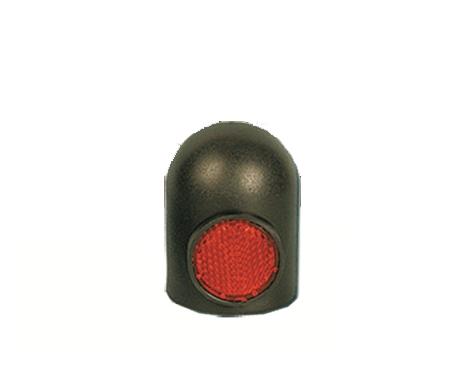 Anhänger Kupplung Schutzkappe schwarz mit Reflektor