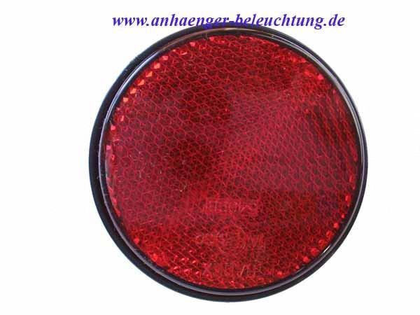 Reflektor Rot von Radex mit Schraube 60mm