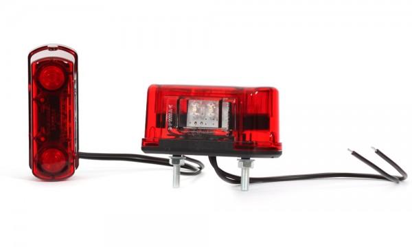 LED Kennzeichenbeleuchtung mit Positionsleuchte Rot