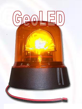 Power LED Rundumkennleuchte Blitzleuchte Gelb 12V/24V