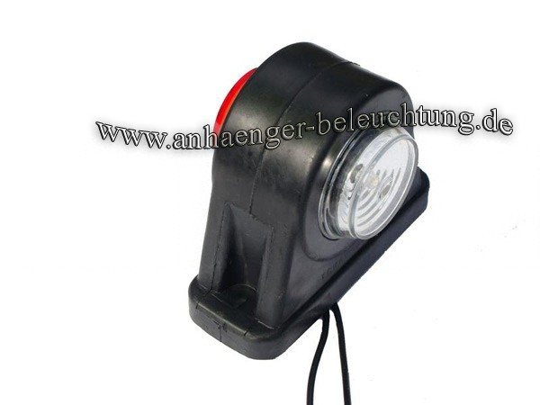 LED Begrenzungsleuchten 12-30V Diodenlicht Rot -Weiss