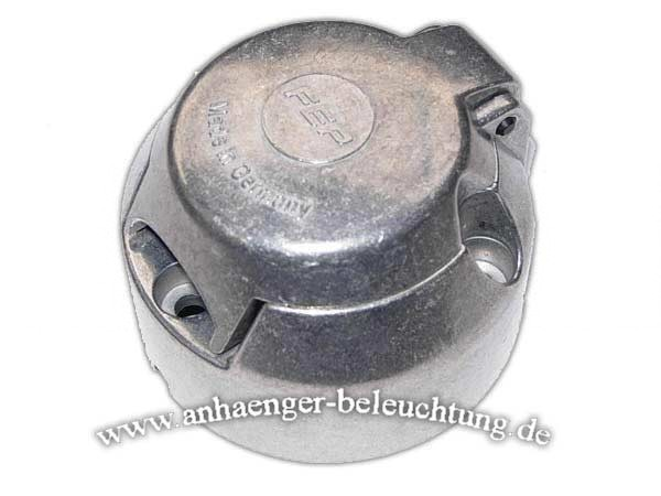 Steckdose 7-polig mit Abschaltkontakt, Metall