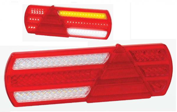 LED 6-Kammer Rückleuchten SLIM LKW Anhänger 12-30V