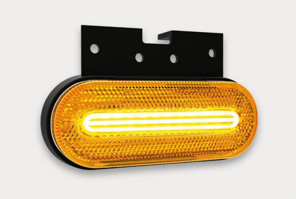 LED Seitenleuchte, Blinkleuchte mit Winkelhalter 12-36V