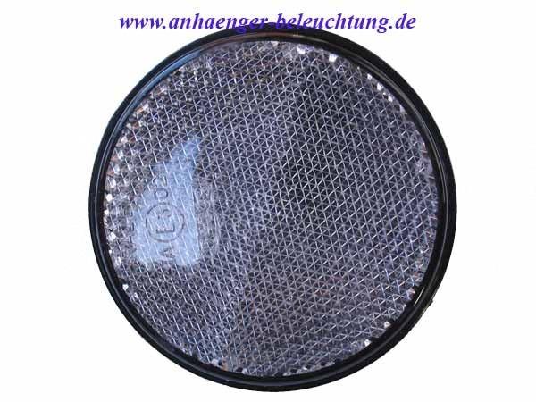Reflektor Weiss mit Schraube Radex 60mm