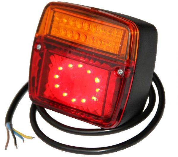 LED Anhänger Rückleuchte 12V-24V 98x107x55mm
