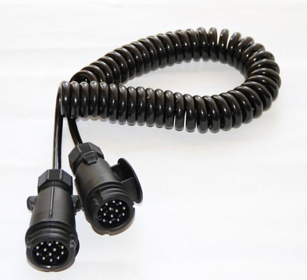 Spiralkabel 4,5m 12V mit 2x Stecker 13-polig