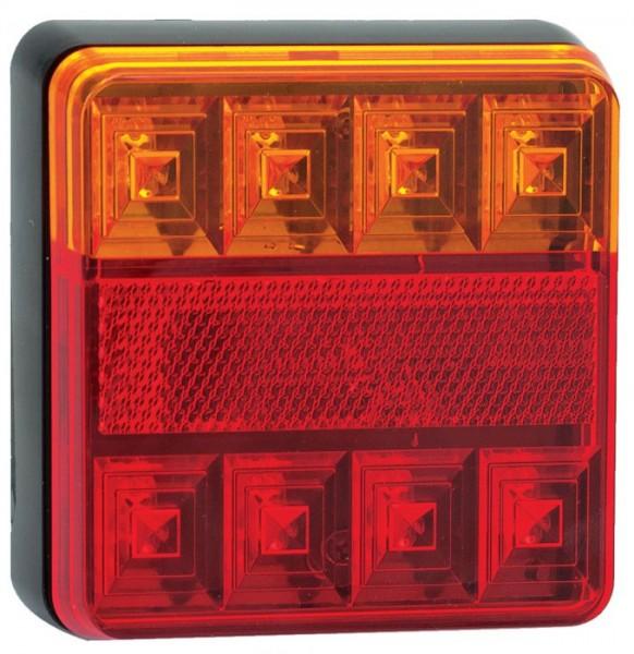 LED Rückleuchten 3-Funktion 100x100mm 12V, Paar