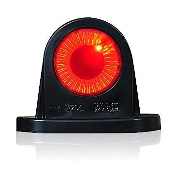 LED Begrenzungsleuchte rot-weiß Lichtleittechnik12V-24V