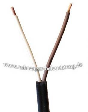 Flachkabel 2-adrig 0,75mm², Elektrokabel.