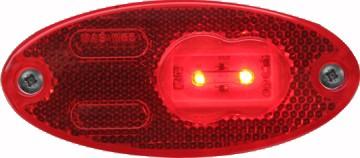 LED Positionsleuchte, Umrissleuchte Rot 12V-24V