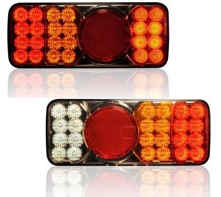 LED Anhänger Rückleuchten das Paar 12V - 24V