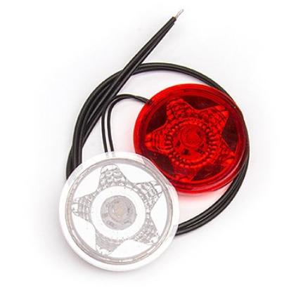 LED STAR Ersatz Elektronik rot-weiß 12V-24V