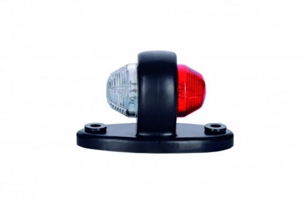 Led Positionslicht vorne-hinten rot-weiß 12-24V