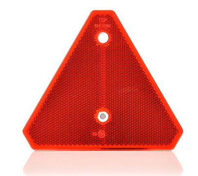 Dreieck Rückstrahler 125x150x6,3 mm