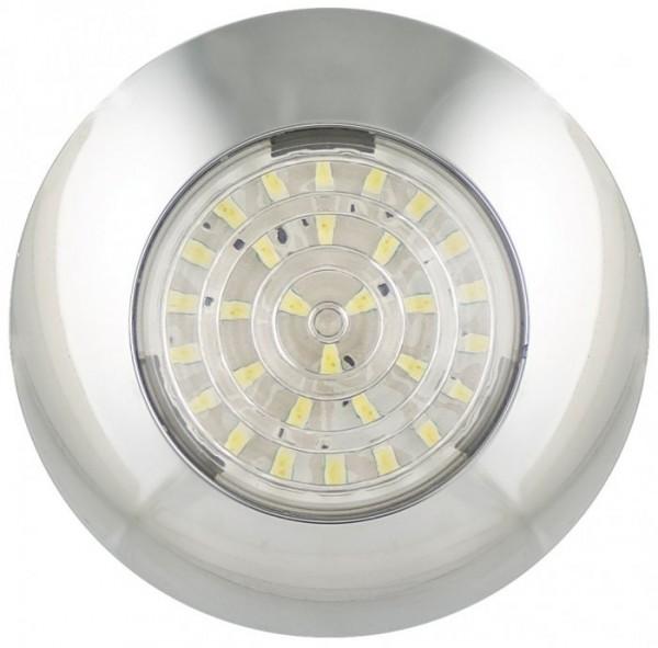 LED Rund Innenleuchte Chrom 24V