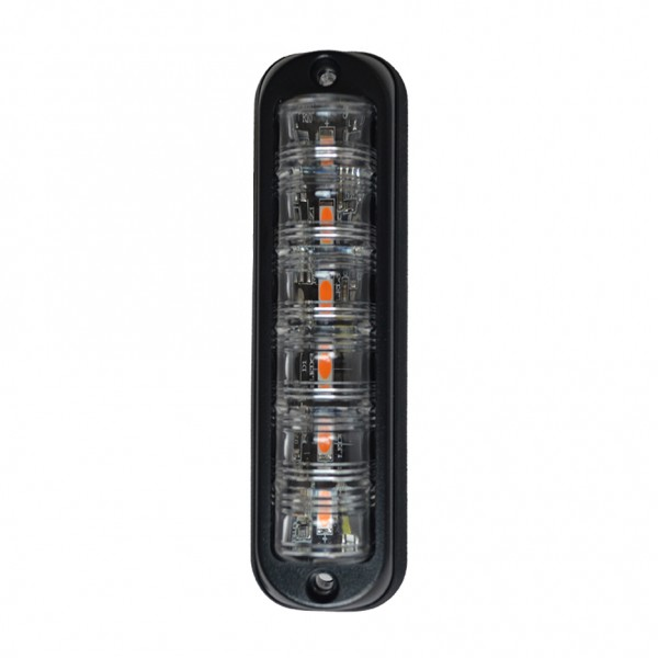 LED Warnleuchte Gelb R65, vertikale Montage