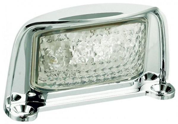 LED Kennzeichenleuchte Chrom für 12V und 24V