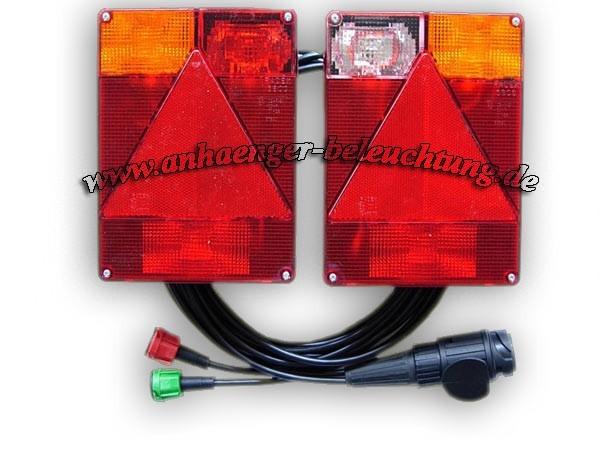 Rückleuchten mit Kabel und Seitenleuchten RADEX 6804