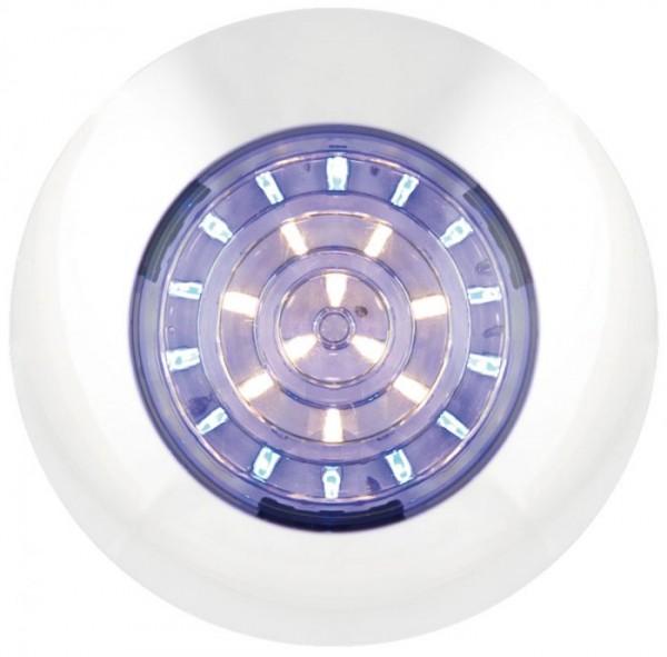 LED Rund Innenleuchte blau - Weiß 12V