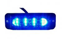 _ LED Blitzleuchte Warnleuchte Strobo Blau 12-24V