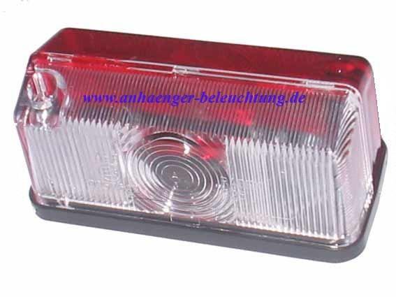 Umrissleuchte Lichtscheibe Rot - Weiß