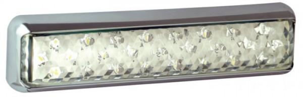 LED Slim-line Rückfahrscheinwerfer, Chrom Halter 12V/24V