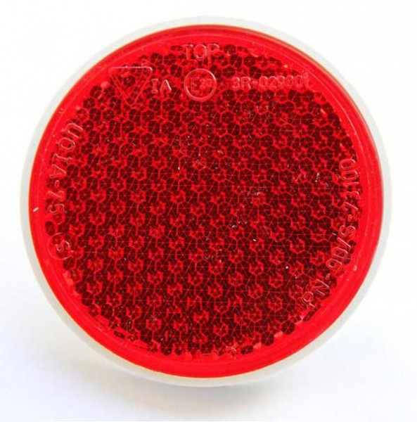 Rückstrahler Rot mit Schraube 85mm