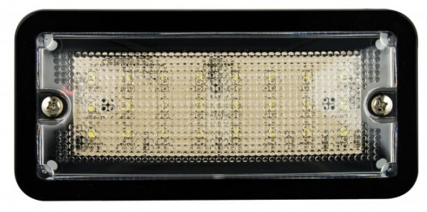 LED Rechteckige Innenraumleuchte schwarz 12V