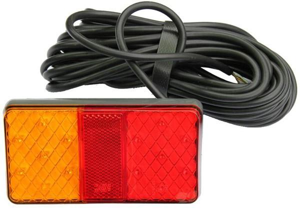 LED 3-Funktion Rücklicht 12/24 mit 10m Kabel