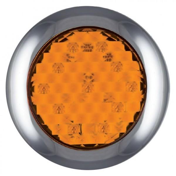 LED Blinker, Rund Oberflächenmontage 12-24 V
