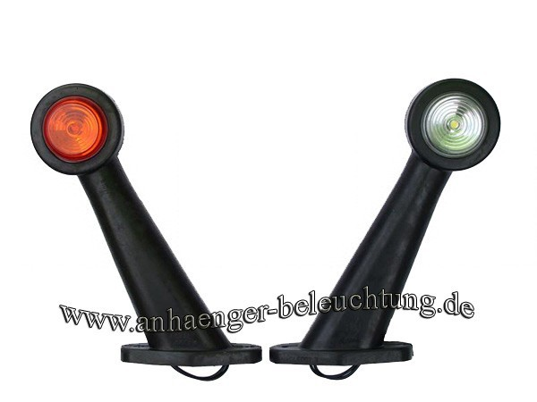 LED Begrenzungsleuchten am schrägen Gummiarm 12-30V