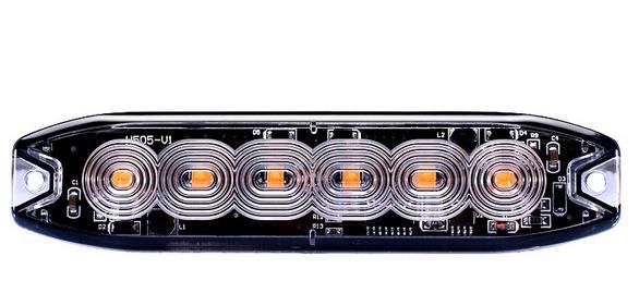 LED Blitzleuchte Warnleuchte Strobo Gelb12-24V