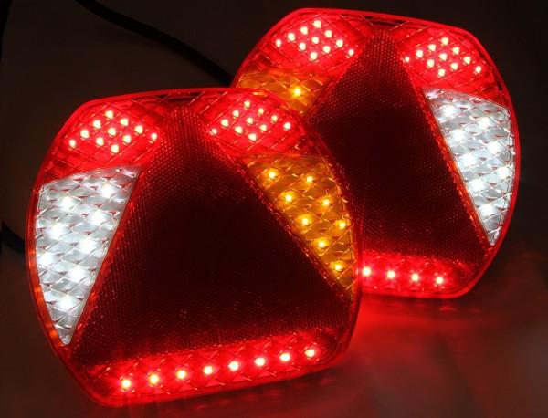 LED SLIM 6-Kammer Leuchten Lkw - Anhänger 12-24V