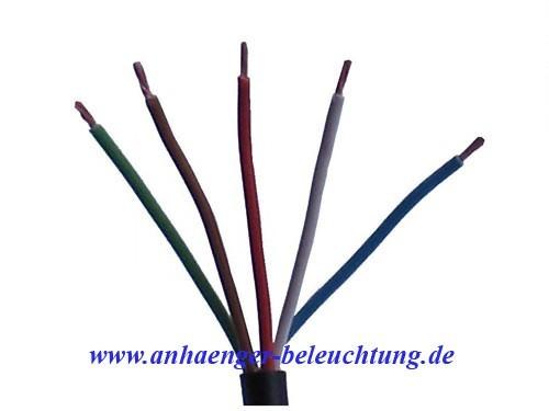 Elektrokabel 5-adrig-Rechts