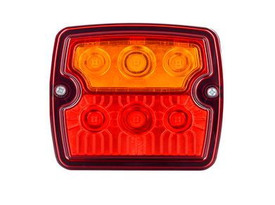 LED 3-funktion Rückleuchte Flach 12V-24V