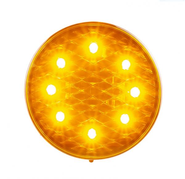 Runde Blinkleuchte - Gelbe Linse - 12-24V