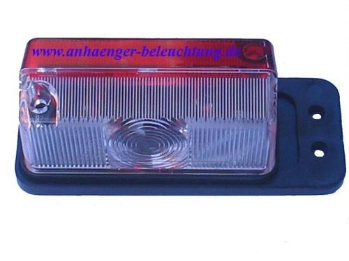 Umrissleuchte Lichtscheibe rot/weiß, elastischem Pendel