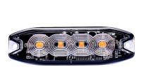 _ LED Strobo Blitzer, Warnleuchte Gelb12-24V-1