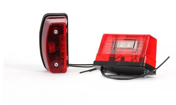 LED Kennzeichenleuchte mit Positionslicht Rot