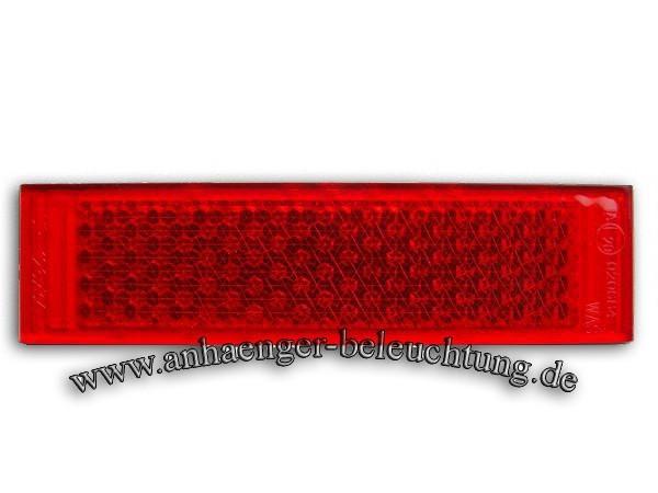 Rückstrahler Rot zum Aufkleben 34x126x7mm