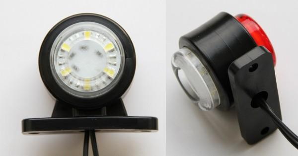 LED-Begrenzungsleuchte Rot - Weiß 12V u. 24V
