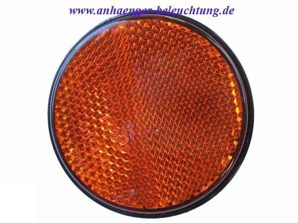 RADEX Seitenreflektor Orange mit Schraube 60mm