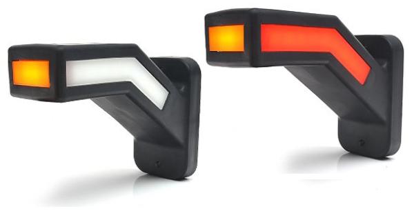 Neon Begrenzungsleuchten das Paar 3-Funktion, Rot-Weiss-Gelb