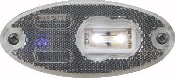 Umrissleuchte, Positionsleuchte LED Weiss 12V-24V
