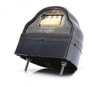 LED Kennzeichenleuchte schwarz mit Sockel