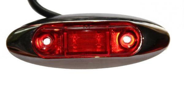 LED Hintere Umrissleuchte Rot (2m Kabel)