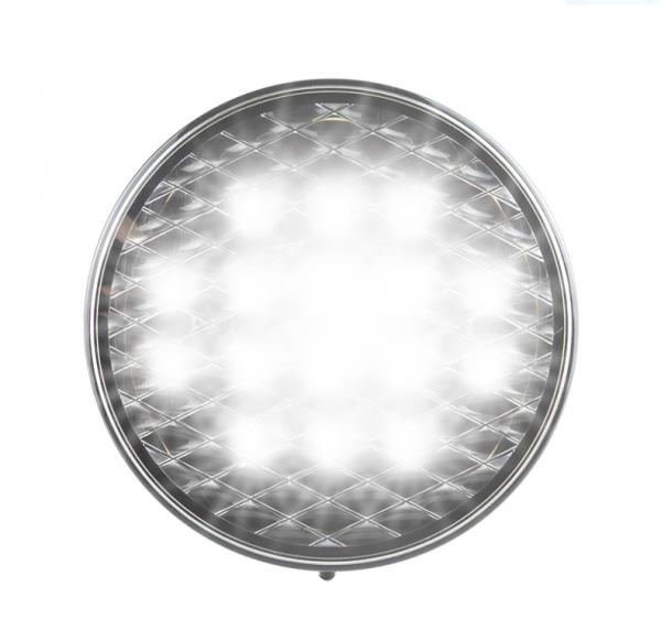 Runde Rückfahrleuchte - Klarglas-Optik - 12-24V