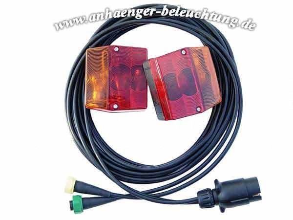 Rückleuchten für Pkw Anhänger mit Kabel-System